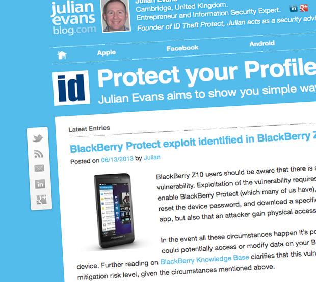 Julian Evans Blog