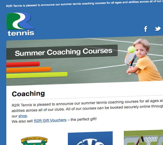 R2R Tennis MailChimp HTML Email